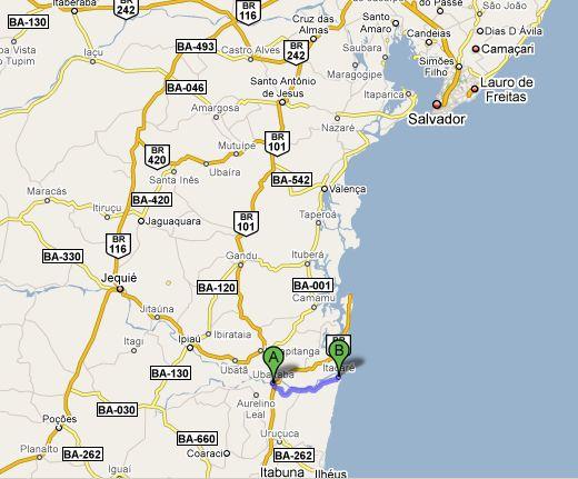 47 KM de estrada de chão