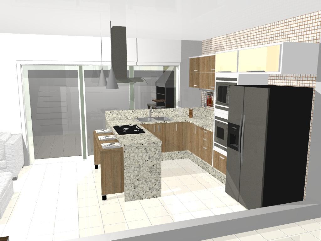 #5E493B cozinha americana Dias a Dois 1024x768 px Projeto De Cozinha Com Sala Pequena #2847 imagens