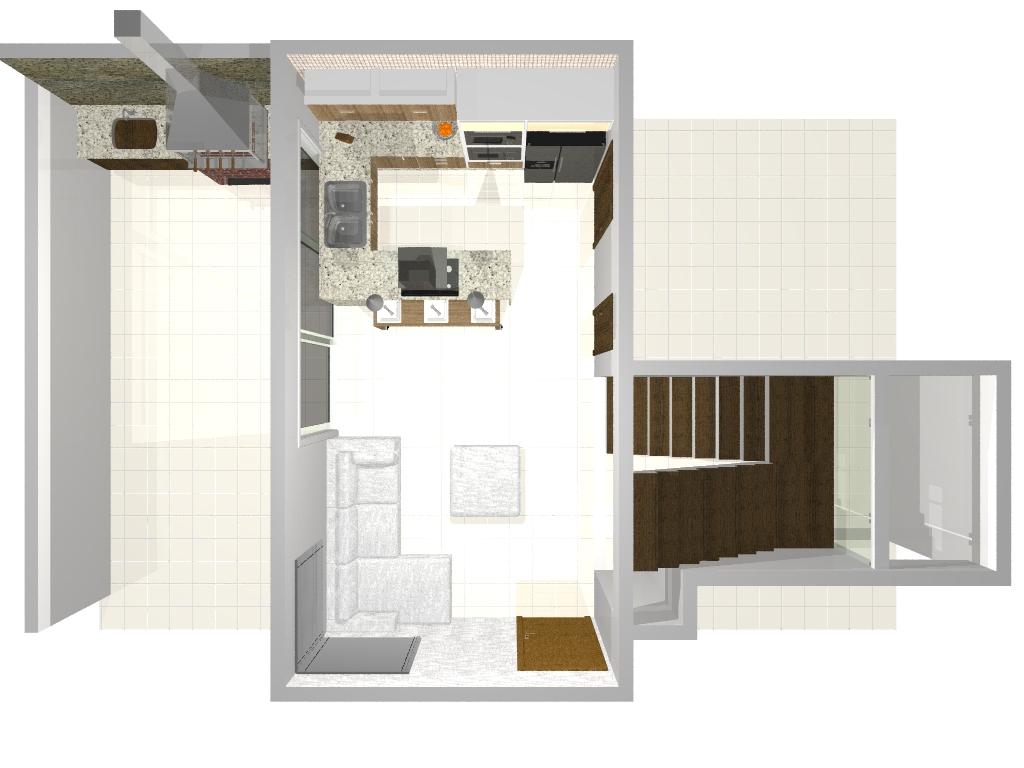 #B26319 projeto da nossa pequena cozinha 1024x768 px Projeto De Cozinha Com Sala Pequena #2847 imagens